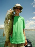 Collin Oelkers of Dalheart Tx. 6 lbs. 4oz trophy smallmouth bass caught July 28th, 2010